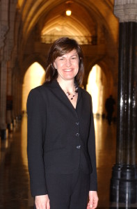 Maureen Shuell on Parliament Hill